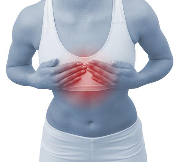 Причины возникновения болей в груди
